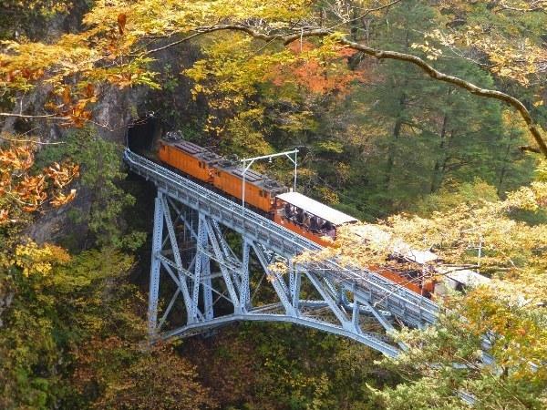 【黒部峡谷鉄道トロッコ電車】トロッコはかつてダム工事の土砂や石の運搬に使われていました