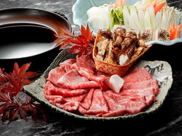 【別注グルメプラン】A5ランク限定 黒毛和牛と松茸のすき焼き ※イメージ画像