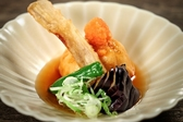 【揚物】百合根まんじゅう揚げ出汁 鼈甲餡仕立 ※当日の仕入れにより料理変更となる場合もございます