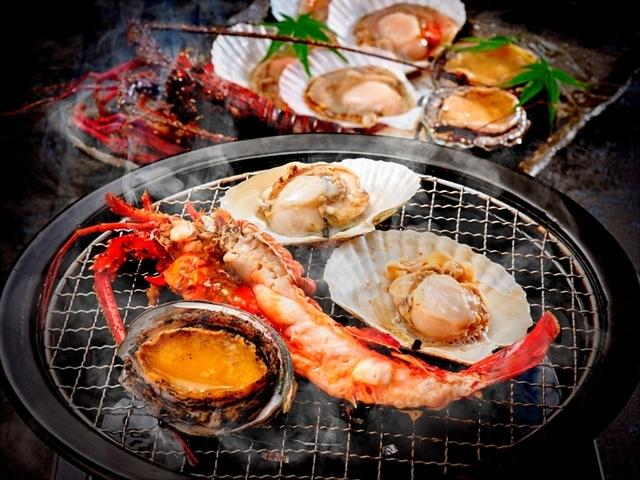 【別注グルメ】伊勢えび・あわび・ホタテの豪華海鮮焼き ※イメージ画像