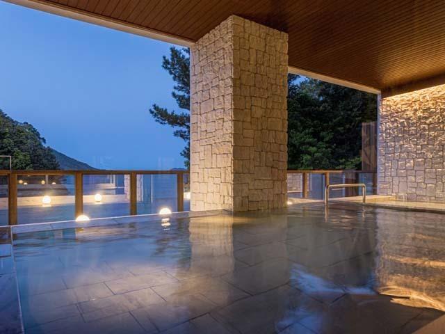 【露天風呂】雰囲気、眺望が抜群のインフィニティ露天風呂