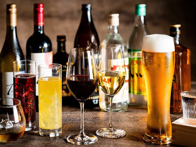 【ハッピープラン[A] 特典その2】ご夕食時アルコールドリンク飲み放題 ※イメージ画像