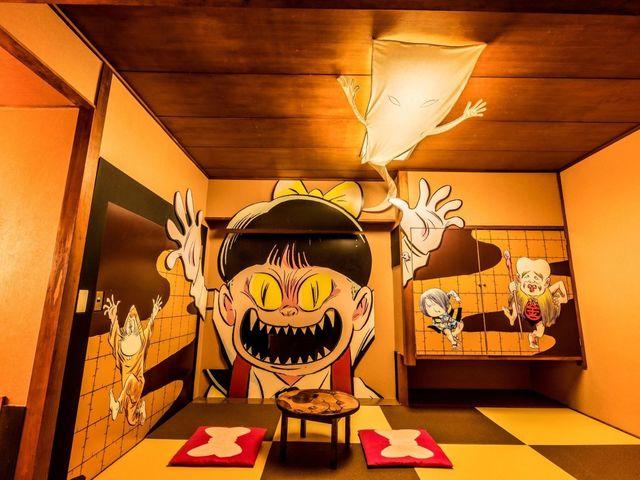 ゲゲゲの鬼太郎ルーム ねこ娘部屋で わいわいお泊り編