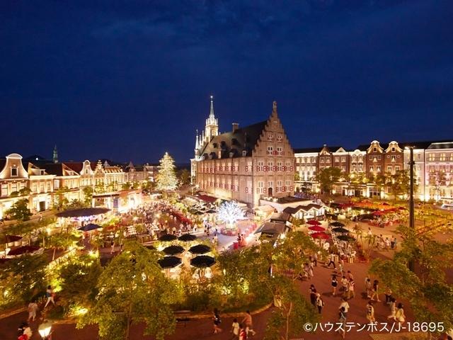 【夜のアムステルダム広場】ヨーロッパの街に明かりが灯る夜、広がるのは美しい光の世界。